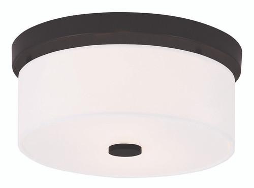 LIVEX Lighting 50862-07 Meridian Flushmount in Bronze (2 Light)