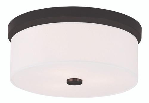 LIVEX Lighting 50863-07 Meridian Flushmount in Bronze (2 Light)