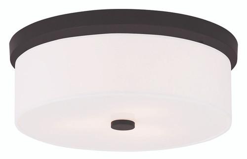LIVEX Lighting 50864-07 Meridian Flushmount in Bronze (3 Light)