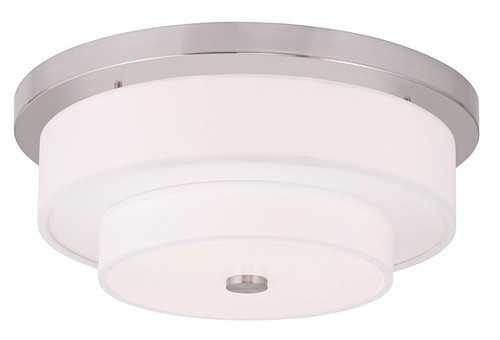LIVEX Lighting 50865-91 Meridian Flushmount in Brushed Nickel (4 Light)