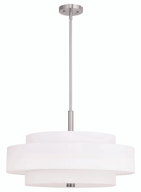 LIVEX Lighting 50875-91 Meridian Pendant in Brushed Nickel (5 Light)