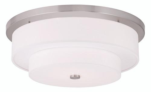LIVEX Lighting 50866-91 Meridian Flushmount in Brushed Nickel (4 Light)