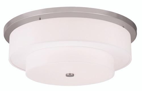 LIVEX Lighting 50867-91 Meridian Flushmount in Brushed Nickel (5 Light)
