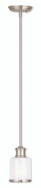 LIVEX Lighting 40210-91 Middlebush Mini Pendant in Brushed Nickel (1 Light)
