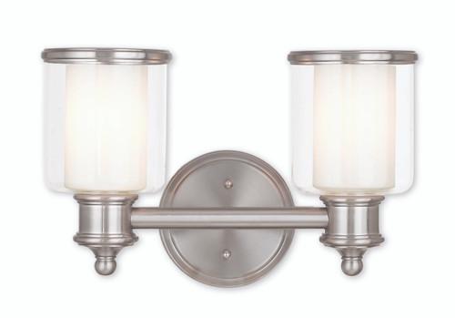 LIVEX Lighting 40212-91 Middlebush Bath Vanity in Brushed Nickel (2 Light)