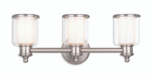 LIVEX Lighting 40213-91 Middlebush Bath Vanity in Brushed Nickel (3 Light)