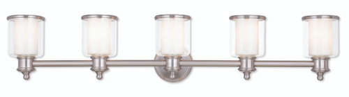 LIVEX Lighting 40215-91 Middlebush Bath Vanity in Brushed Nickel (5 Light)