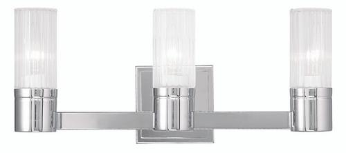 LIVEX Lighting 50683-05 Midtown Contemporary Bath Light in Polished Chrome (3 Light)
