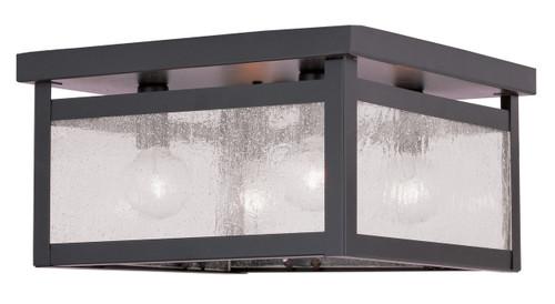 LIVEX Lighting 4052-07 Milford Flushmount in Bronze (4 Light)