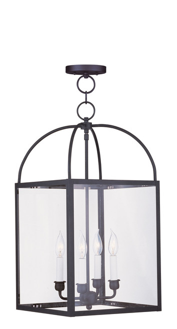 LIVEX Lighting 4042-04 Milford Chain Lantern in Black (4 Light)