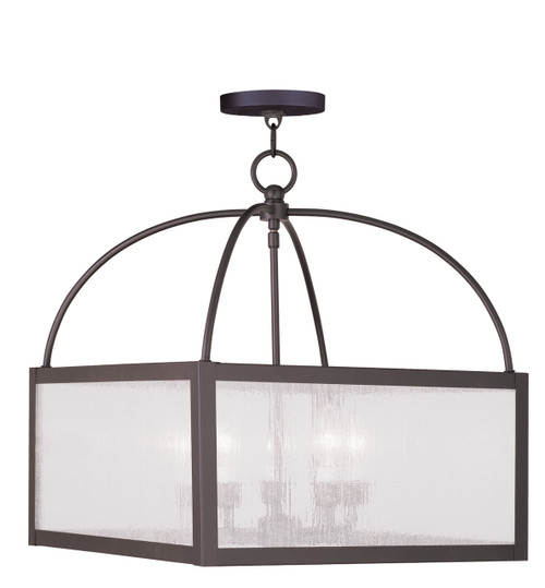 LIVEX Lighting 4057-07 Milford Lantern in Bronze (5 Light)