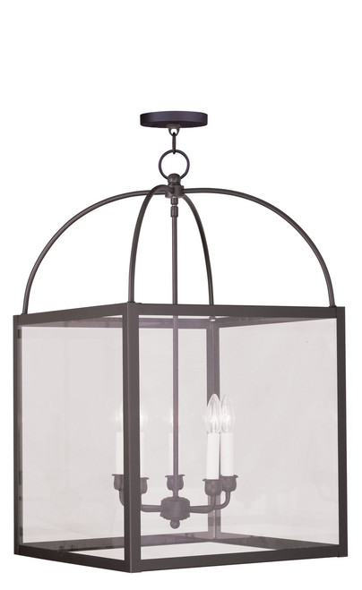 LIVEX Lighting 4038-07 Milford Lantern in Bronze (5 Light)