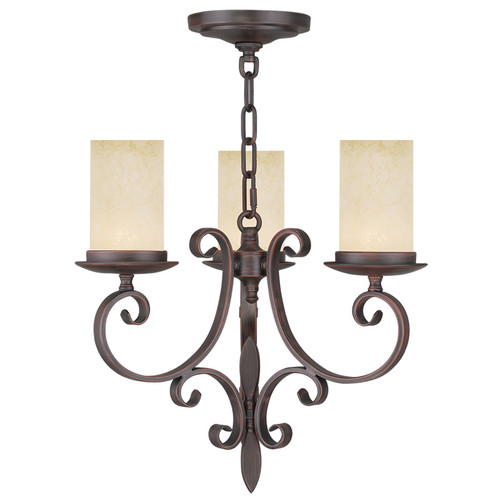 LIVEX Lighting 5483-58 Millburn Manor Mini Chandelier in Imperial Bronze (3 Light)