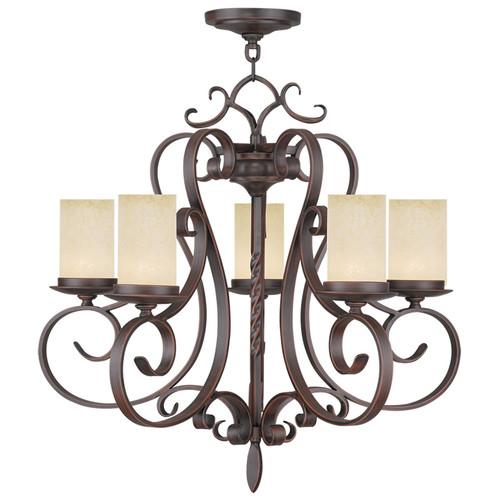 LIVEX Lighting 5485-58 Millburn Manor Chandelier in Imperial Bronze (5 Light)