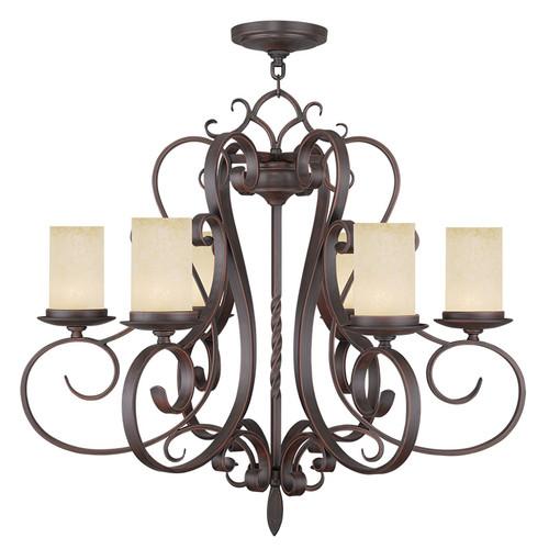 LIVEX Lighting 5486-58 Millburn Manor Chandelier in Imperial Bronze (6 Light)