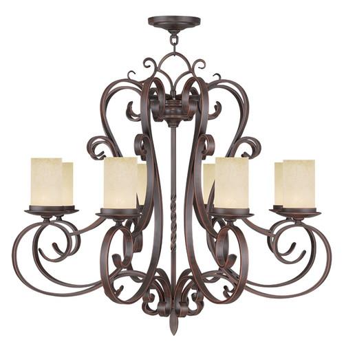 LIVEX Lighting 5488-58 Millburn Manor Chandelier in Imperial Bronze (8 Light)