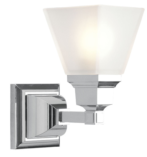 LIVEX Lighting 1031-05 Mission Bath Light in Polished Chrome (1 Light)