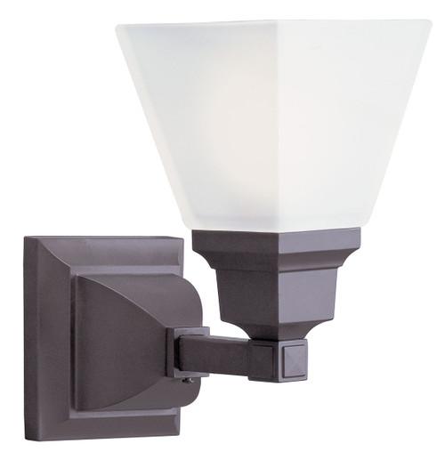 LIVEX Lighting 1031-07 Mission Bath Light in Bronze (1 Light)
