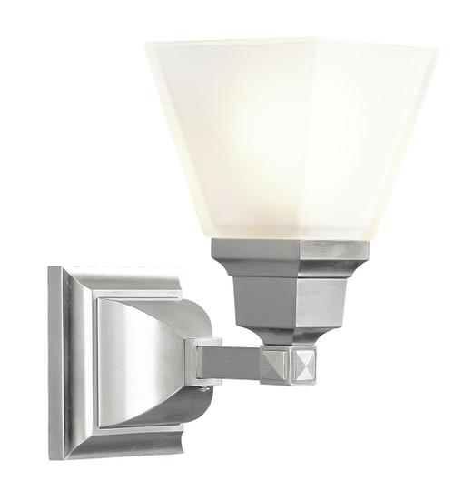 LIVEX Lighting 1031-91 Mission Bath Light in Brushed Nickel (1 Light)
