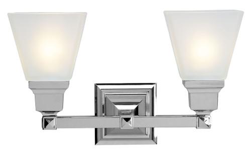 LIVEX Lighting 1032-05 Mission Bath Light in Polished Chrome (2 Light)
