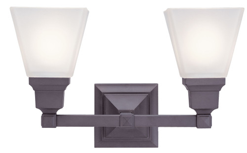 LIVEX Lighting 1032-07 Mission Bath Light in Bronze (2 Light)