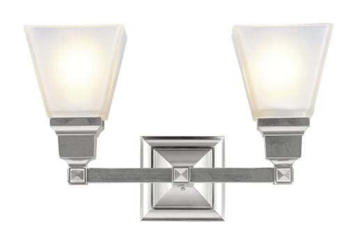 LIVEX Lighting 1032-91 Mission Bath Light in Brushed Nickel (2 Light)