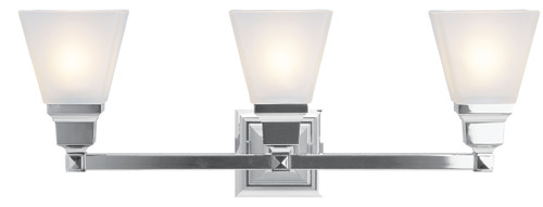 LIVEX Lighting 1033-05 Mission Bath Light in Polished Chrome (3 Light)