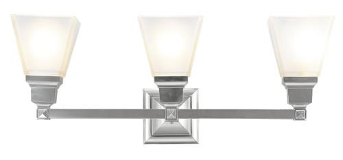LIVEX Lighting 1033-91 Mission Bath Light in Brushed Nickel (3 Light)