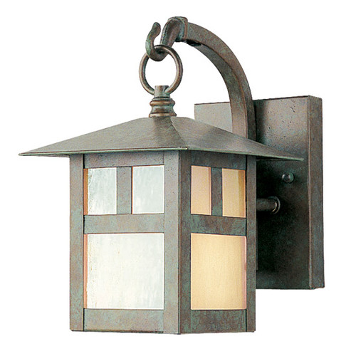 LIVEX Lighting 2130-16 Montclair Mission Outdoor Wall Lantern in Verde Patina (1 Light)
