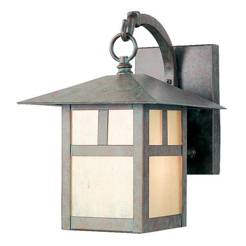 LIVEX Lighting 2131-16 Montclair Mission Outdoor Wall Lantern in Verde Patina (1 Light)