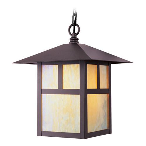 LIVEX Lighting 2141-07 Montclair Mission Outdoor Chain Lantern in Bronze (1 Light)
