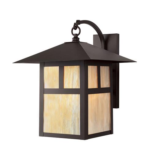 LIVEX Lighting 2137-07 Montclair Mission Outdoor Wall Lantern in Bronze (1 Light)