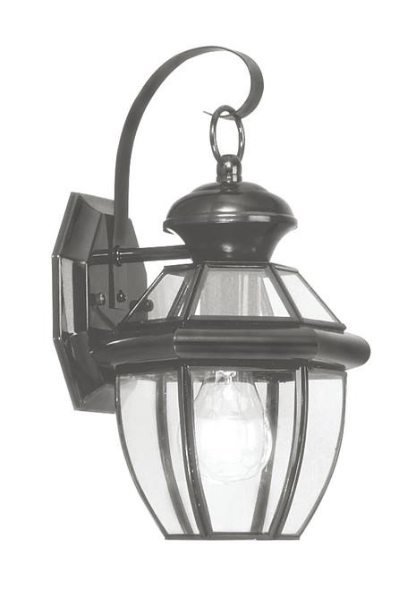 LIVEX Lighting 2051-04 Monterey Outdoor Wall Lantern in Black (1 Light)