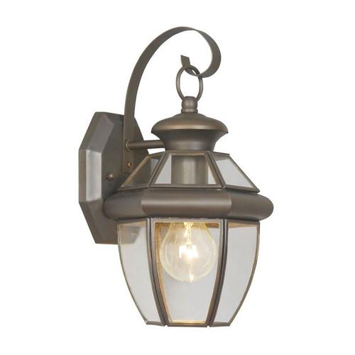 LIVEX Lighting 2051-07 Monterey Outdoor Wall Lantern in Bronze (1 Light)