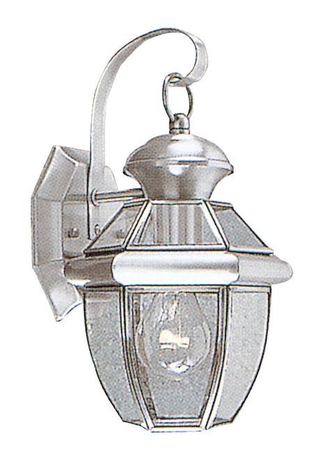 LIVEX Lighting 2051-91 Monterey Outdoor Wall Lantern in Brushed Nickel (1 Light)