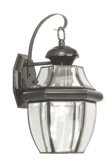 LIVEX Lighting 2151-04 Monterey Outdoor Wall Lantern in Black (1 Light)