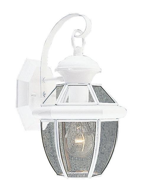 LIVEX Lighting 2051-03 Monterey Outdoor Wall Lantern in White (1 Light)