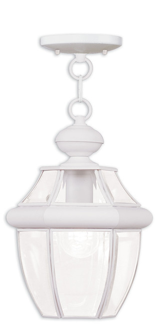 LIVEX Lighting 2152-03 Monterey Outdoor Chain Lantern in White (1 Light)