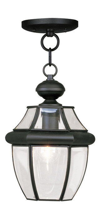 LIVEX Lighting 2152-04 Monterey Outdoor Chain Lantern in Black (1 Light)
