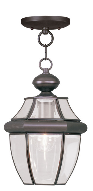 LIVEX Lighting 2152-07 Monterey Outdoor Chain Lantern in Bronze (1 Light)