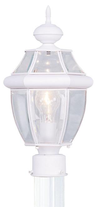 LIVEX Lighting 2153-03 Monterey Outdoor Post Lantern in White (1 Light)