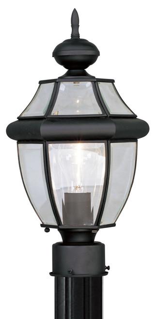 LIVEX Lighting 2153-04 Monterey Outdoor Post Lantern in Black (1 Light)