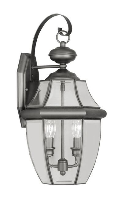 LIVEX Lighting 2251-04 Monterey Outdoor Wall Lantern in Black (2 Light)