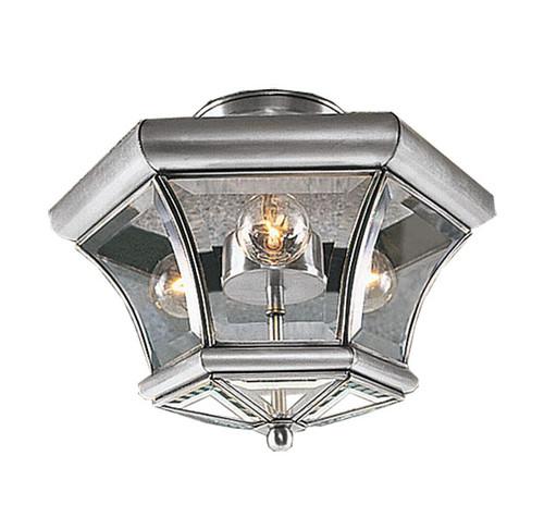 LIVEX Lighting 4083-91 Monterey Flushmount in Brushed Nickel (3 Light)