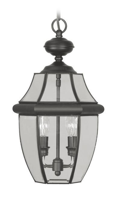 LIVEX Lighting 2255-04 Monterey Outdoor Chain Lantern in Black (2 Light)