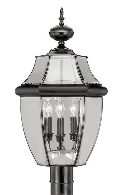 LIVEX Lighting 2354-04 Monterey Outdoor Post Lantern in Black (3 Light)