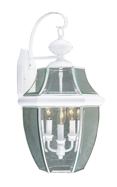 LIVEX Lighting 2351-03 Monterey Outdoor Wall Lantern in White (3 Light)