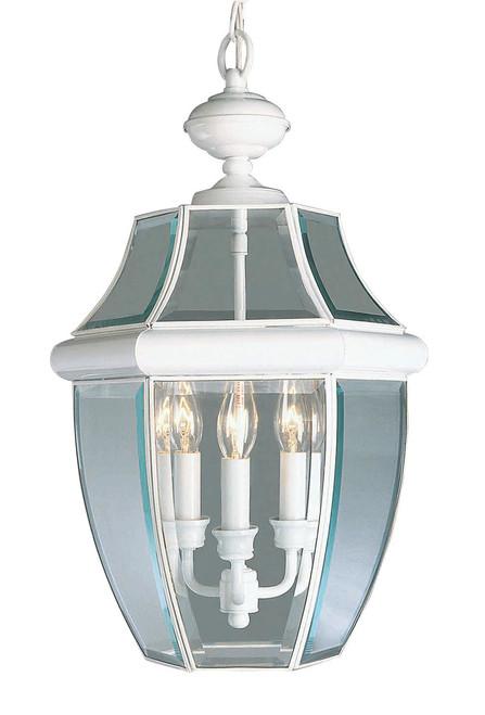 LIVEX Lighting 2355-03 Monterey Outdoor Chain Lantern in White (3 Light)