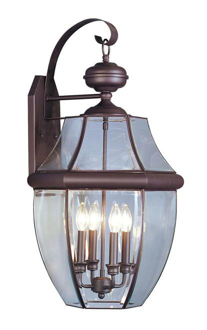 LIVEX Lighting 2356-07 Monterey Outdoor Wall Lantern in Bronze (4 Light)
