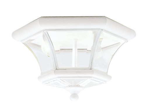 LIVEX Lighting 7052-03 Monterey Georgetown Flushmount in White (2 Light)